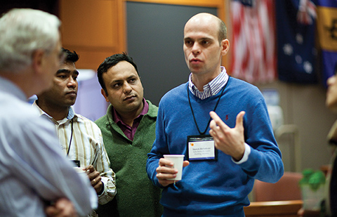Comprehensive Leadership Program professor Robert S. Kaplan interacting with participants, HBS Executive Education