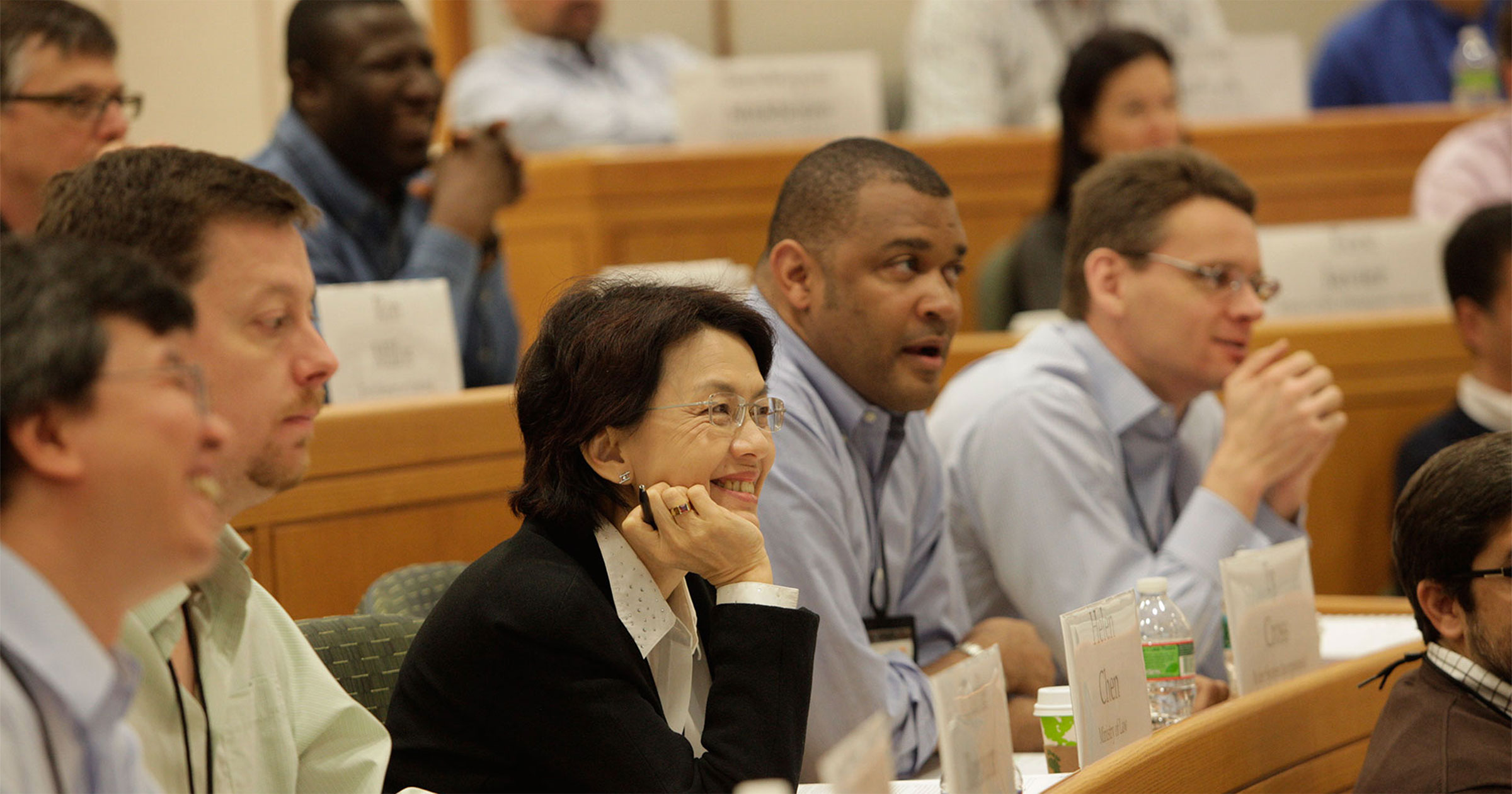 Close up of participants seated in a classroom